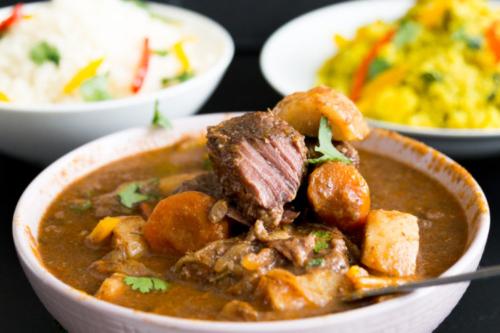 a bowl of Beer Braised Beef Stew