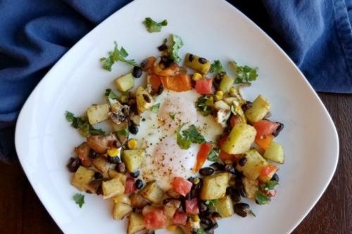Tex-Mex Breakfast on a plate