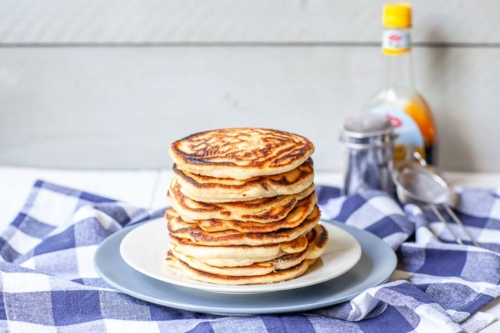 stacked Pancakes on a plate