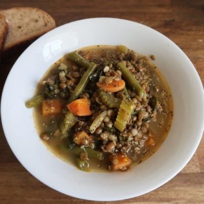 Turmeric Detox Lentil Soup