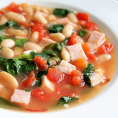 Quick-and-Easy White Bean and Baby Greens Stew