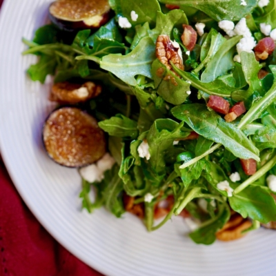 Grilled Fig And Arugula Salad