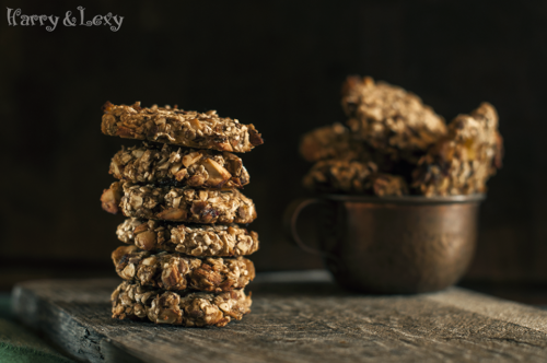 stacked dried fruit energy cookies