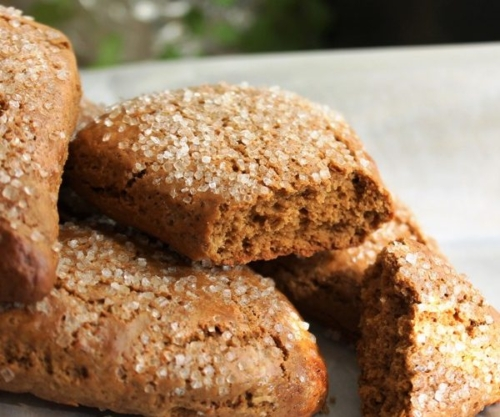 stacked Gingerbread Scones