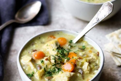 Chicken & Rice Soup in a bowl