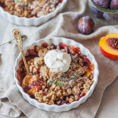 Peach and Plum Vegan Crumble