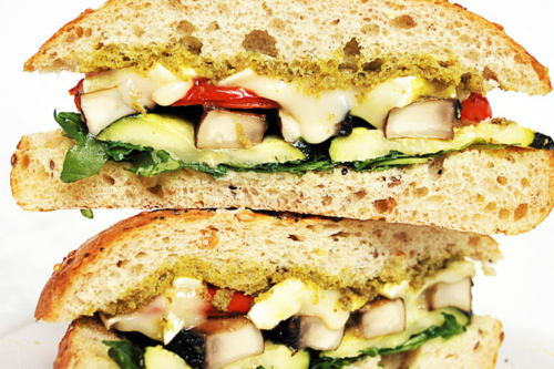 stacked Roasted Vegetable Sandwiches