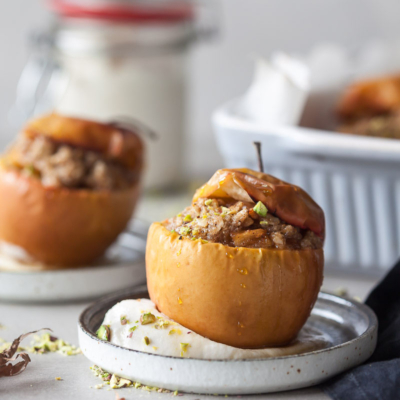 Vegan Cinnamon Baked Apples
