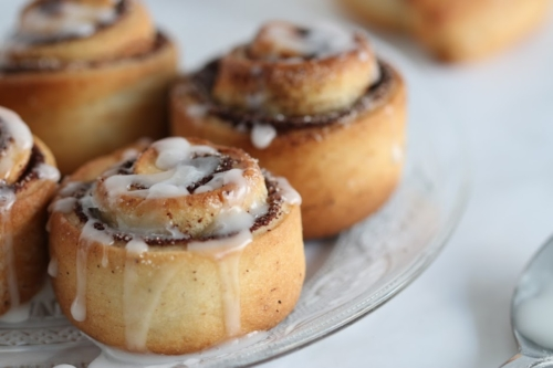 Cinnamon Rolls dripping with icing