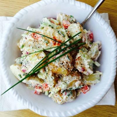 Potato, Cucumber and Garlic Salad