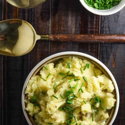 Vegan Garlic Mashed Potatoes