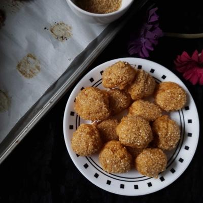 Panellet – Sweet Potato Coconut Cookies