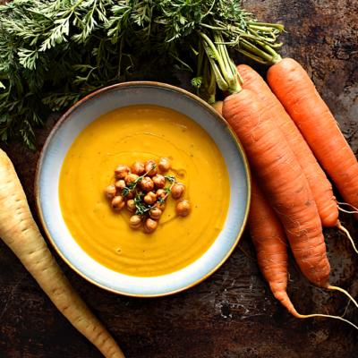 Smoky Carrot & Parsnip Soup