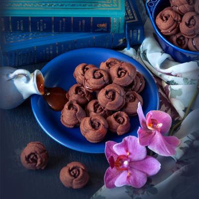 Chocolate Rose Sandwich Cookies