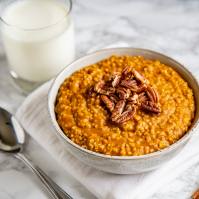 Instant Pot Pumpkin Steel Cut Oatmeal
