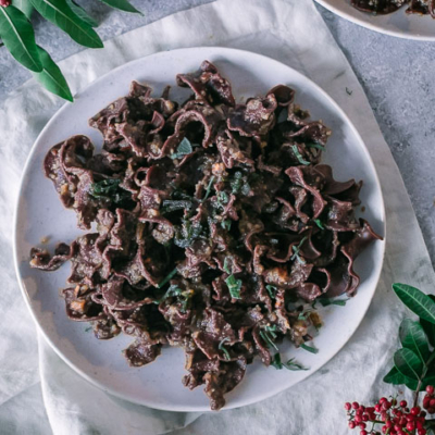 Savory Chestnut Chocolate Pasta