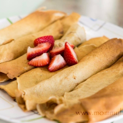 Whole Wheat Crepes with Flaxseed