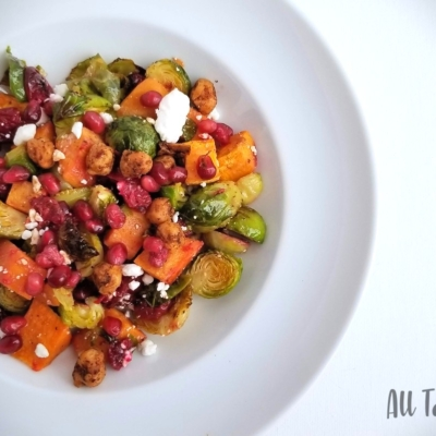 Sweet Potato & Brussels Sprout Salad