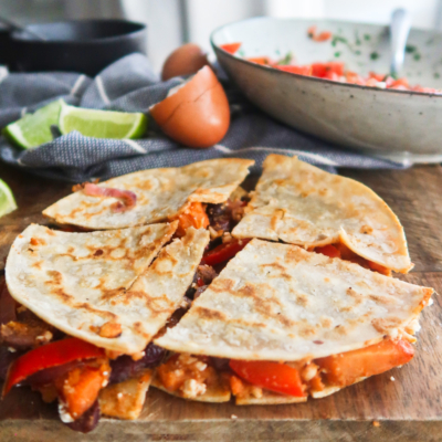 Sweet Potato and Bean Breakfast Quesadilla