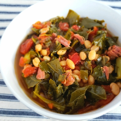 Instant Pot Collard Greens and Navy Beans