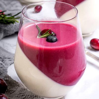 Vanilla Panna Cotta Cranberry Curd