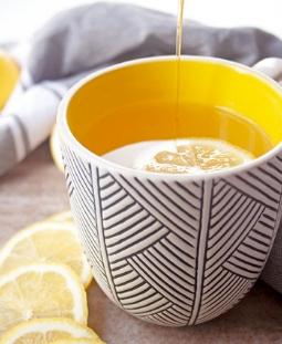 Soothing Ginger Lemon Tea with Honey
