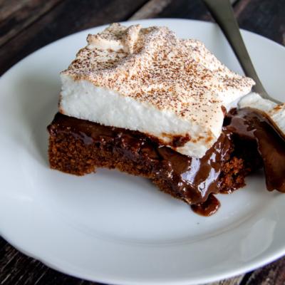 Gooey Chocolate Meringue Cake