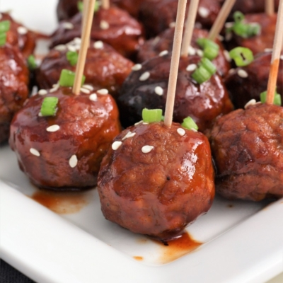 Two Ingredient Plum Meatballs