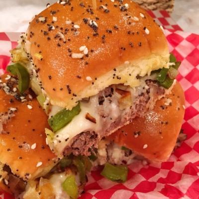 Easy Philly Cheese Steak Sliders