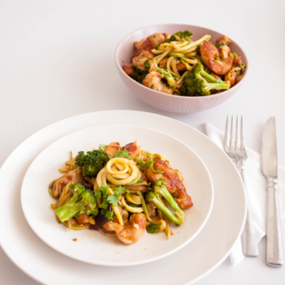 Chicken Broccoli Zucchini Noodle Stir Fry
