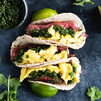 Steak & Egg Breakfast Tacos