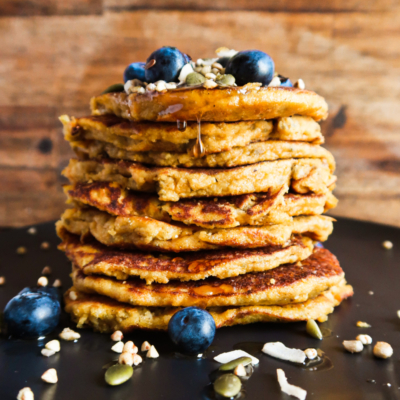 Turmeric Sweet Potato Pancakes