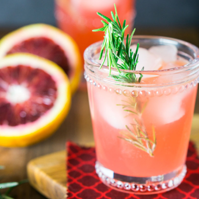 Blood Orange-Rosemary Gin and Tonic