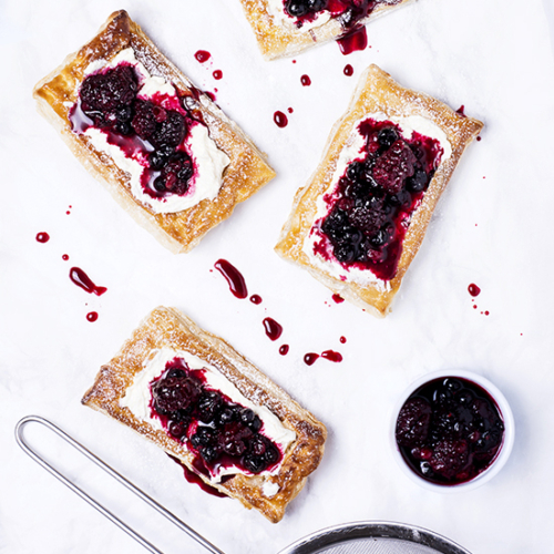 berry pastry tarts