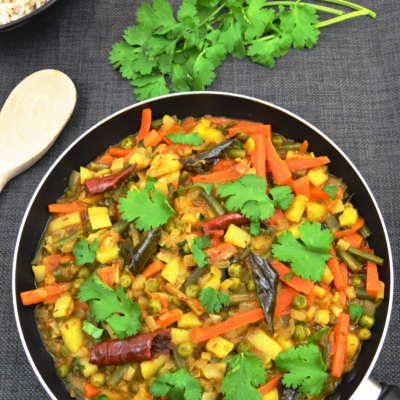 Vegetable Chettinad ( Spicy Vegan Curry)