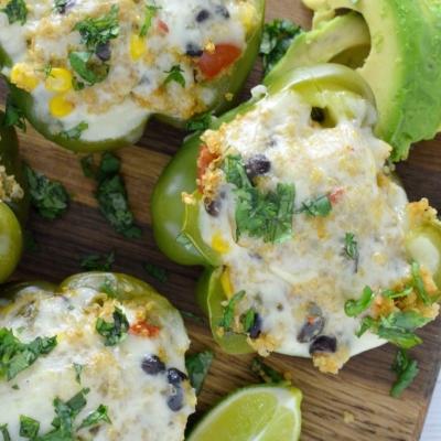 Vegetarian Quinoa Stuffed Peppers