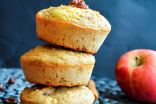 stacked apple cinnamon muffins