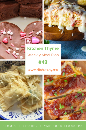 Kitchen Thyme Weekly Meal Plan with 4 featured recipes