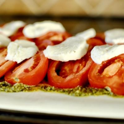 Tomato, Pesto & Mozzarella Tart