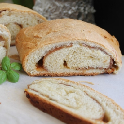 Homemade Soft Cheese and Ham Bread