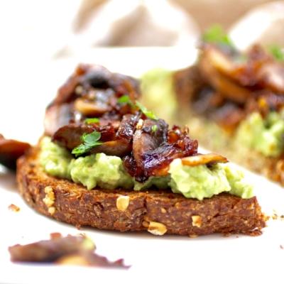 Avocado Toast with Tamari Mushrooms