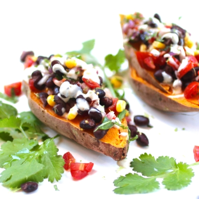 Mexican Sweet Potatoes with Tahini Dressing
