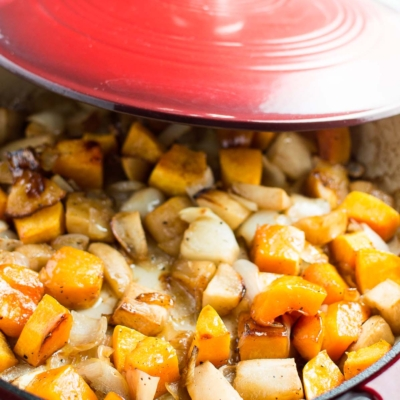 Maple Butter Glazed Squash and Apples