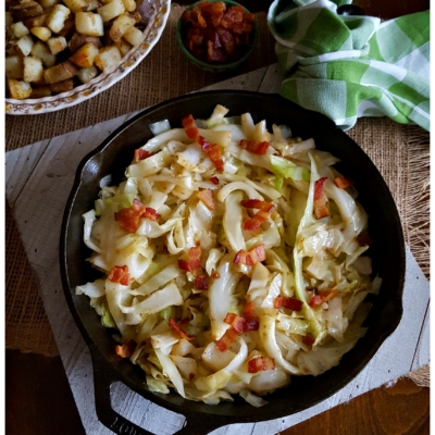Southern Style Fried Cabbage with Bacon