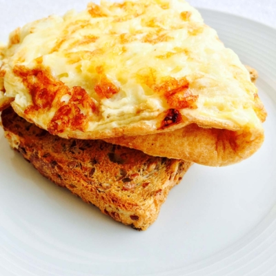 Breakfast Cheese Omelette on Toast