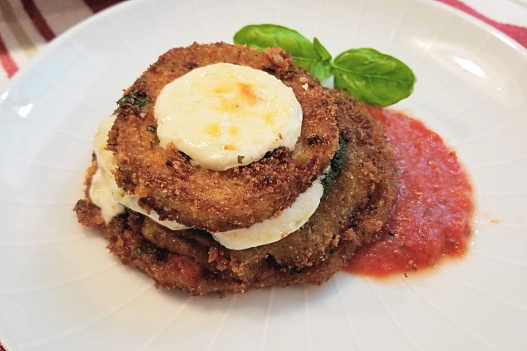 stacked eggplant parmesan