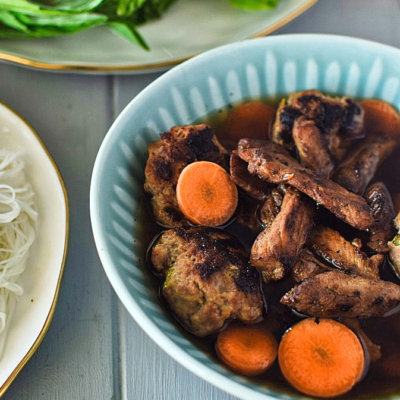 Bun Cha (Bún Chả) – Grilled Pork with Herbs and Rice Noodles