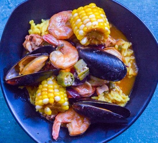 cajun seafood in a bowl