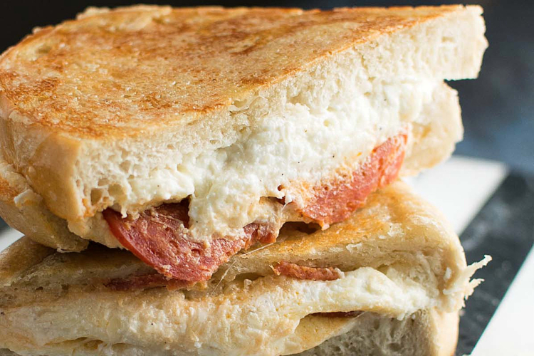 Calzone Grilled Cheese