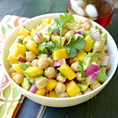 Chickpea Avocado Salad with Mango